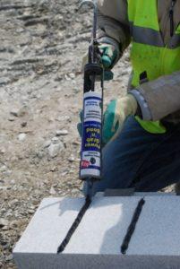 Power Grab n Bond being used on Granite