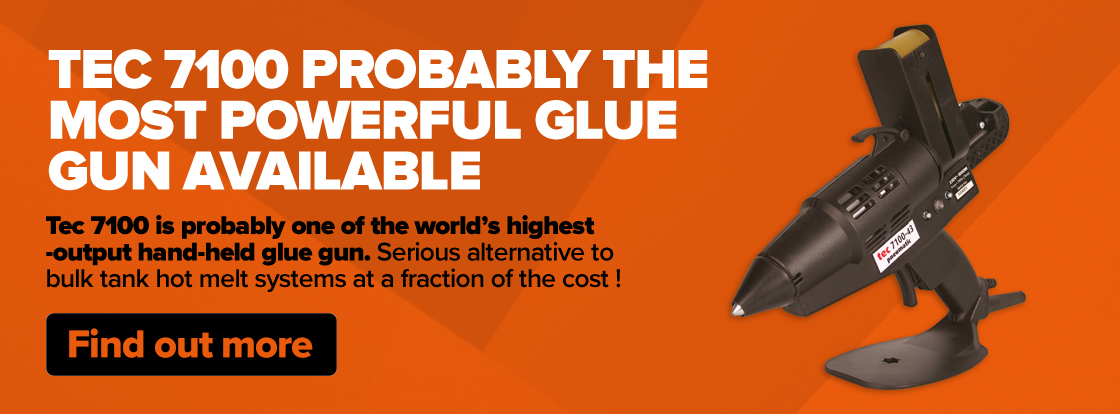 Probably the most powerful glue gun available, 1000 watt, with pneumatic speed loader