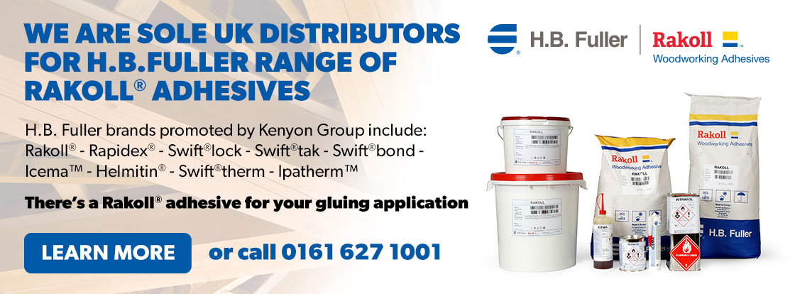 We are sole uk distributors for h.b.fuller range of Rakoll® Adhesives